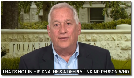 Walter Isaacson says (at t=1:55) that Donald Trump is a deeply unkind person who wants to make others feel like losers (27 Dec 2018).
