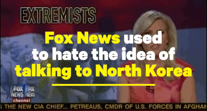 Fox News used to HATE the idea of talking to the North Korean dicktator, but now .. (2 July 2019)