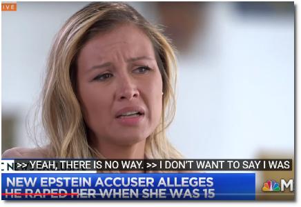 Jennifer Araoz says that Jeffrey Epstein raped her when she was 15 (10 July 2019)