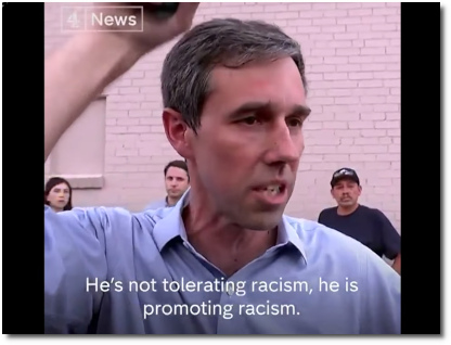 Beto O'Rourke says that Trump is actively promoting the racism that has led to the deaths in El Paso (4 Aug 2019)