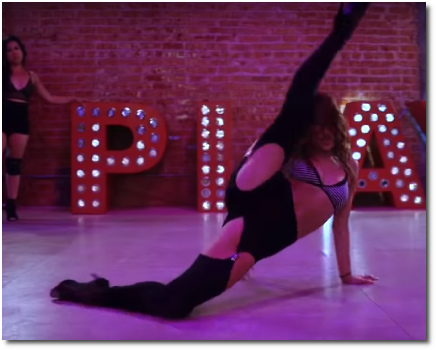 Brinn Nicole choreo Pony revamp with impressive leg extension and flexibility (3 Sept 2019)