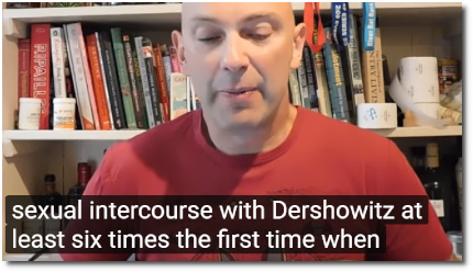 Shaun Attwood reads statement of Virginia Roberts Giuffre saying that she had sexual intercourse with Dershowitz (as a minor) at least six times (7 Sept 2019)