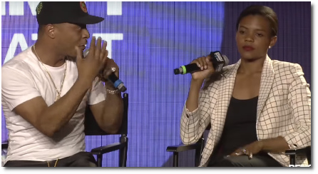 T.I. and Candace Owens engage in a passionate debate at Revolt Summit Atlanta (14 Sept 2019)