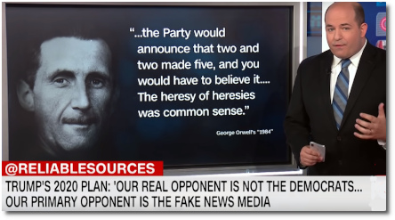 Trump celebrates ignorance and declares that his real 2020 opponent is not the Democrats but rather the News Media (8 Sept 2019)