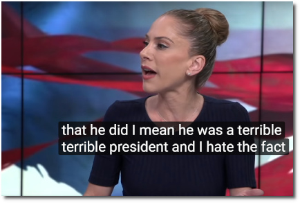 Ana Kasparian says that George W Bush was a terrible terrible president(8 Oct 2019)