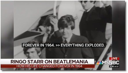 Coffee Joe hanging out with Ringo Starr as they look back to that life-changing year of 1964 (11 Nov 2019)