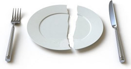 Broken Plate at Place Setting