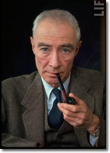 Dr. J Robert Oppenheimer (1904-1967) Smokes a Pipe
