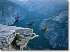 Half Dome Jump off x4 | Dont try this at home, kids | 1,444 meters = a jumo of 4,737-feet