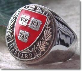 Harvard Ring with School Motto: Veritas