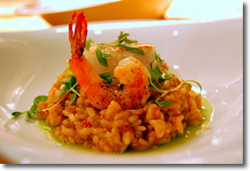 Risotto and shrimp