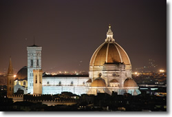Florence Cathedral completed in 1436 by Fillipo Brunelleschi, finishing a project begun 140 years earlier in 1296