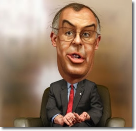 David Brooks caricature