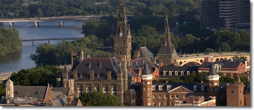 Georgetown University campus arial photo