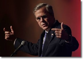 Jeb Bush speaks to Clark county republicans in Las Vegas May 13, 2015
