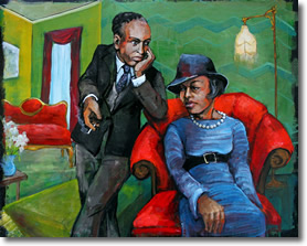 Langston Hughes & Zora Neale Hurston by Dana Ellyn
