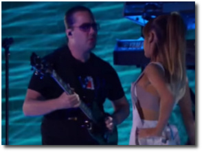 Ariana's 23-year-old boobie in white overalls at MSG in NYC Sept 7, 2016