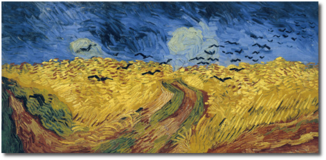 Wheatfield with Crows (1890) Vincent Van Gogh