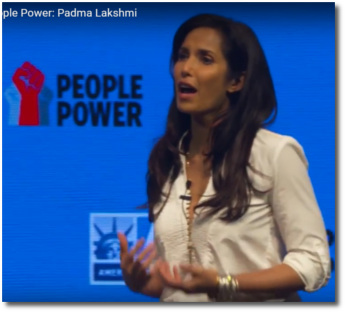 Padma Lakshmi speaking at ACLU People Power in Miami March 11, 2017