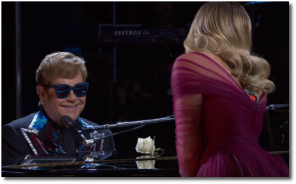 Elton and Miley singing Tiny Dancer at 60th Grammys in MSG 28 Jan 2018