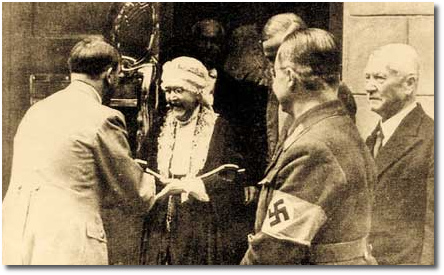 Hitler pays a visit (1934) to Nietzsce's sister Elisabeth (1846-1935)