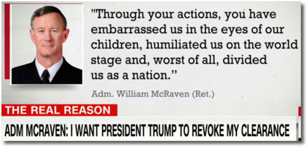 Adm McRaven's message to Trump in support of John Brennan (at t=5:00)