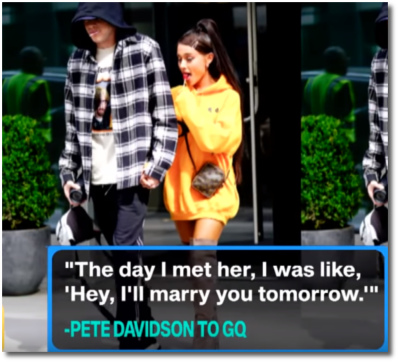 Pete Davidson says 'Hey, I'll marry you tomorrow.'