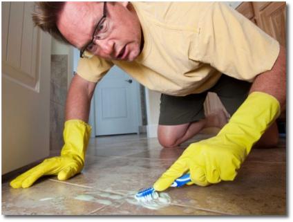 OCD guy cleaning fanatic