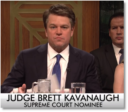 SNL cold open skit of Kavanaugh Senate hearing (29 Sept 2018)